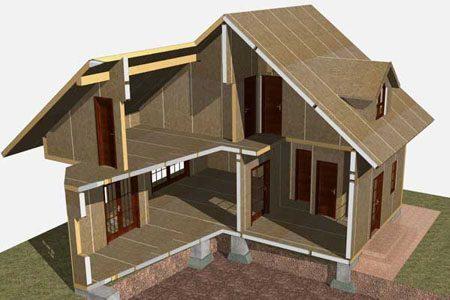 Строительство зданий на основе стеновых SIP панелей в Краснодаре